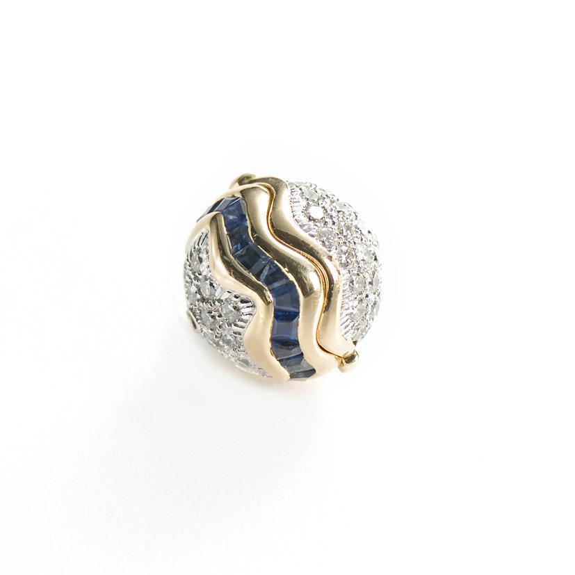 Saphir en or jaune et diamants